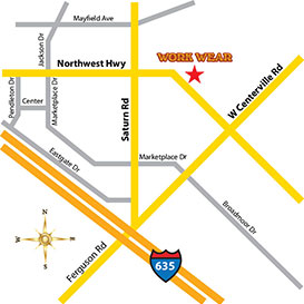 Map of Garland Location